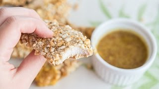 Crunchy Baked Chicken Strips Recipe Coated In Pretzels - Fifteen Spatulas