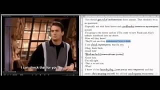 Изучение английского по фильмам с субтитрами Friends Workshop Part 2