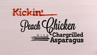 Kickin' Peach Chicken With Chargrilled Asparagus