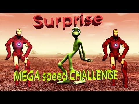 MEGA Speed Dance CHALLENGE Green Frog And Alien Super Fun A Football Lot Of Dance