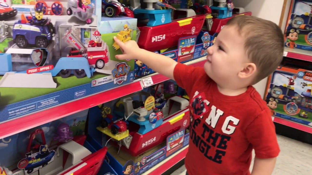 Toy Shopping At Toys R Us For Paw Patrol Toys Power Wheels