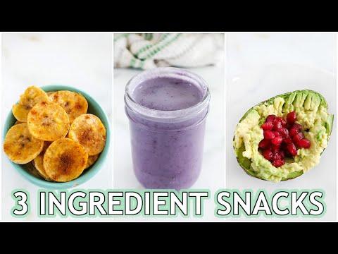 3 INGREDIENT SNACKS: healthy paleo snacks