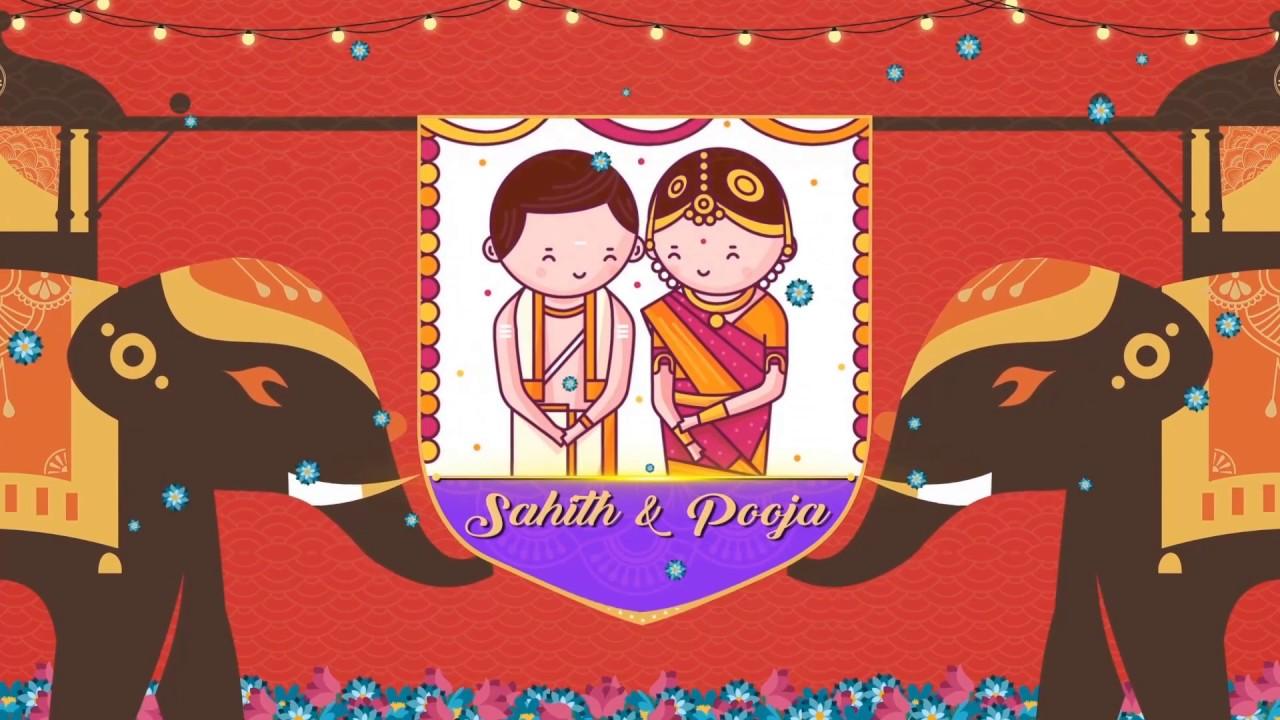 Wedding Invitation by SAHITH and POOJA NETHRIKA! - YouTube