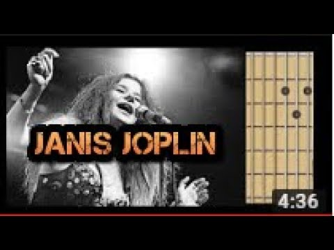 Me and Bobby McGee Janis Joplin guitar chords - YouTube