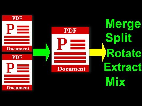 How To Merge & Combine PDF Files Into One | Split PDF | Extract PDF | Rotate | Free Download