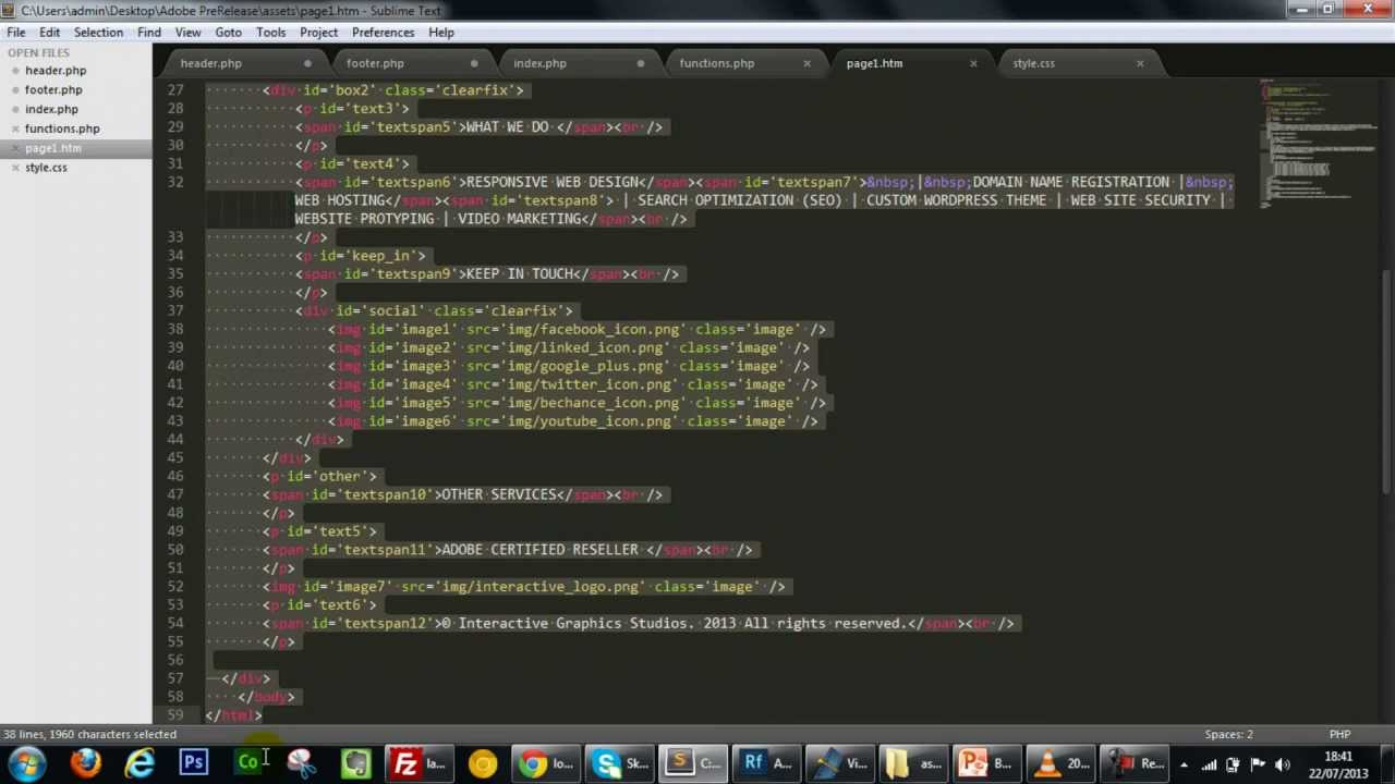 Creating a WordPress Theme in 7 Minutes with Adobe Edge Reflow ...