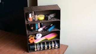 DIY Best out of waste - Dressing Table Organizer