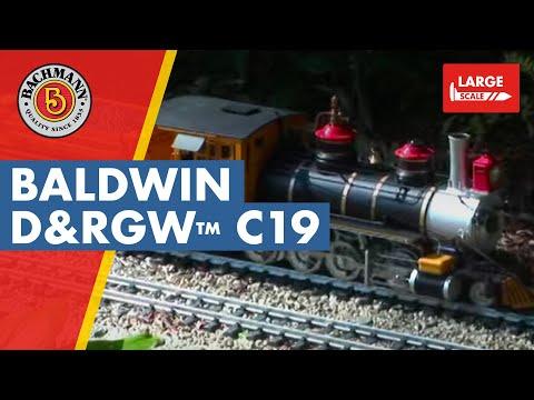 Bachmann Spectrum 1:20.3 Scale C-19 Steam locomotive model highlights