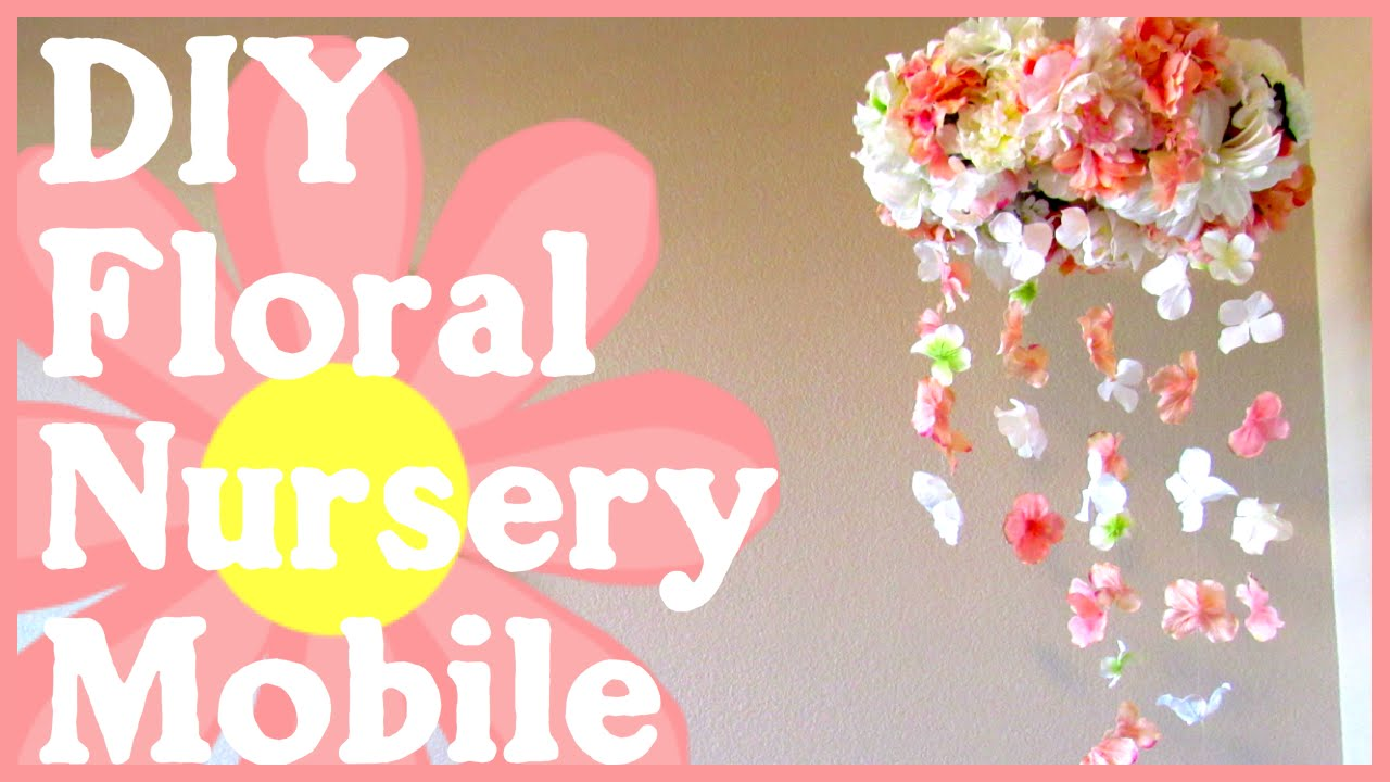 DIY Floral Nursery Mobile | Simple & Quick Tutorial - YouTube