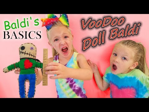 How to Make Baldi Basics VooDoo Doll! Hacked LIVE While Recording!!