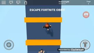 ROBLOX #4 Escape fortnite