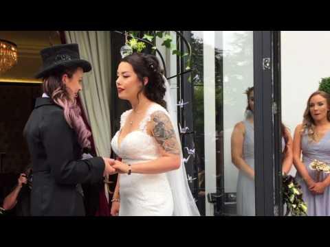 Amy & Lucy's Wedding - Glazebrook House Hotel 7-7-17