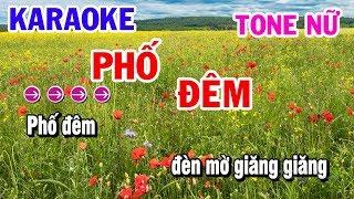 Phố Đêm || Karaoke || Nhạc Sống Tone Nữ Dm || Karaoke Thanh Hải