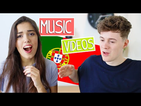 REACTING TO PORTUGUESE MUSIC VIDEOS !!!