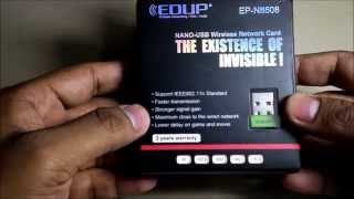 edup ep n8508 wireless usb wifi dongle unboxing