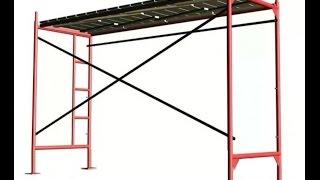 видео Металлический настил для строительных лесов