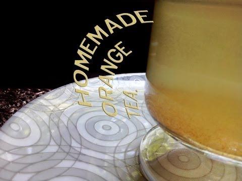Homemade orang peel tea