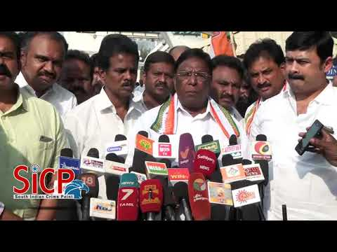 Puducherry CM Narayanasamy Press Meet at Coimbatore