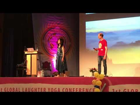 Maki Kawakami at 1st Global Laughter Yoga Conference in Germany 2017
