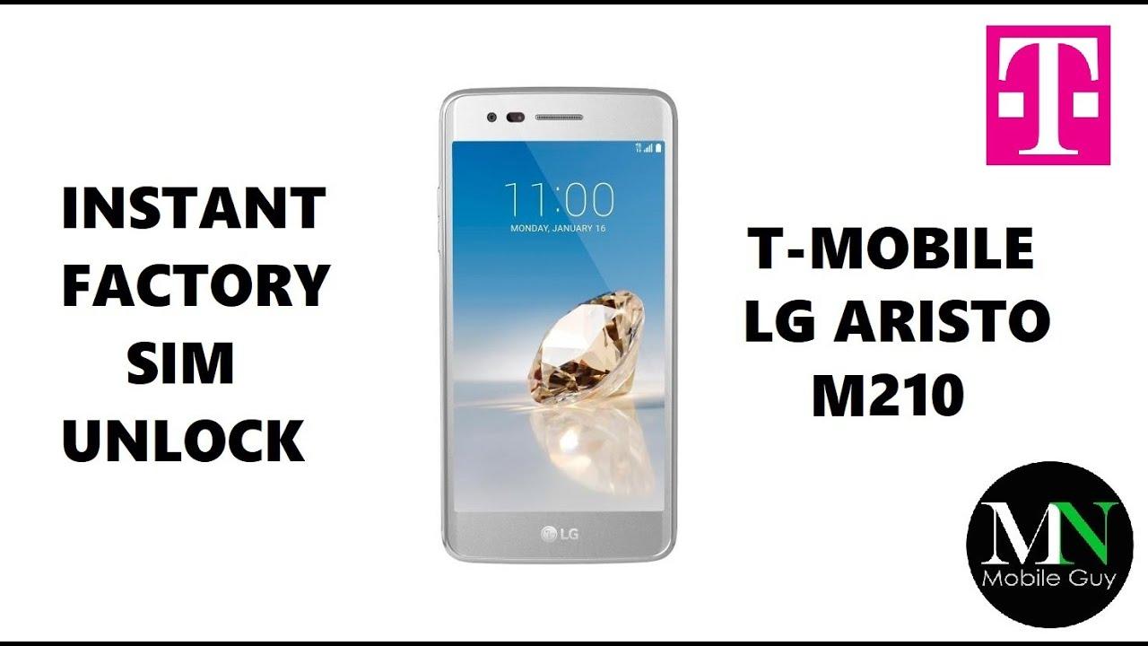SIM Unlock T-Mobile LG Aristo - No Device Unlock App Needed!