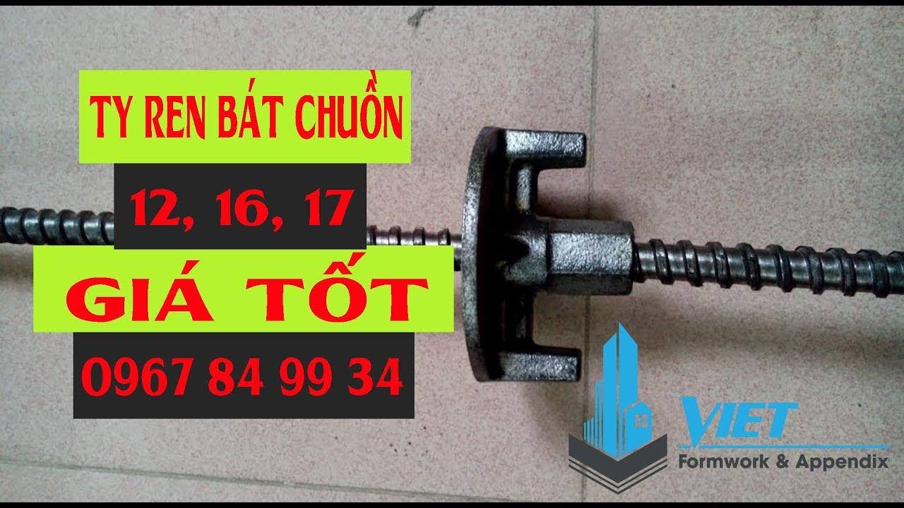 Cốp Pha Việt – Ty ren bát chuồn D12, D16, D17 (Tie Rod – Wing Anchor Nut D12, D16, D17 )