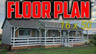 Shed To House - 16 X 50 Floor Plan!
