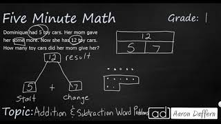 1st Grade Math Addition and Subtraction Word Problems