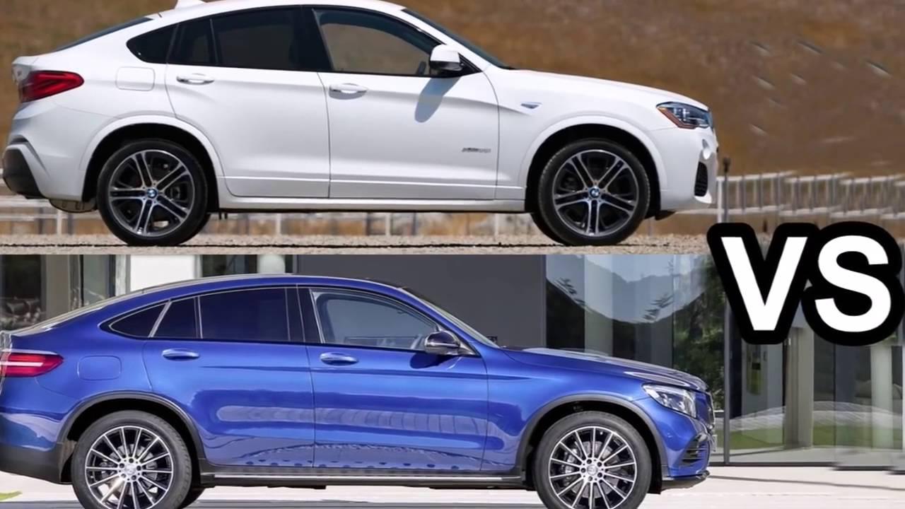Сравнение дизайна Mercedes Glc Coupe 2016 и Bmw X4 2016