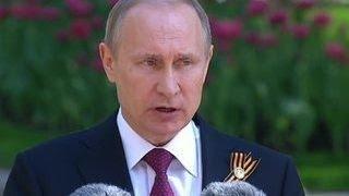 Путин вручил Президентскому полку грамоту за обеспечение безопасности РФ