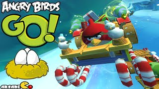 Angry Birds Go! Red Birds vs Hal and Bad Piggies in Subzero Xmas