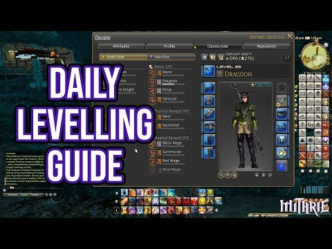 FFXIV 4 56 1291 Daily Levelling Guide (2019) - YouTube