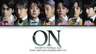 BTS _ (방탄소년단) -ON طريقة نطق اغنية بانقتان جديدة
