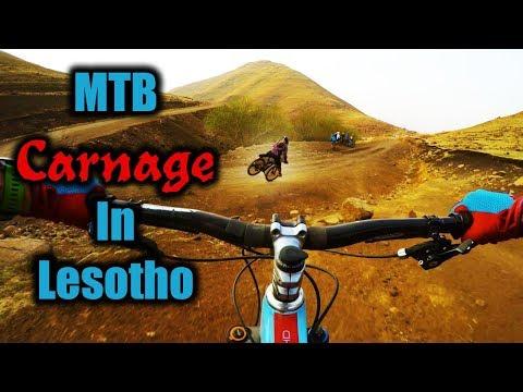 Carnage on Mass Start Practice Runs 4K | Lesotho Mega Enduro w/ Detour Trails