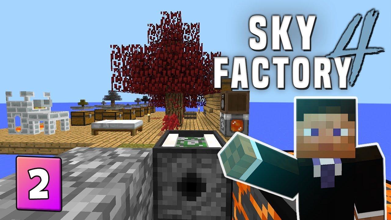SkyFactory 4 - EP 2 Cobblestone Generator, Redstone & Obsidian