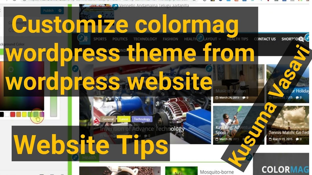 How to customize colormag