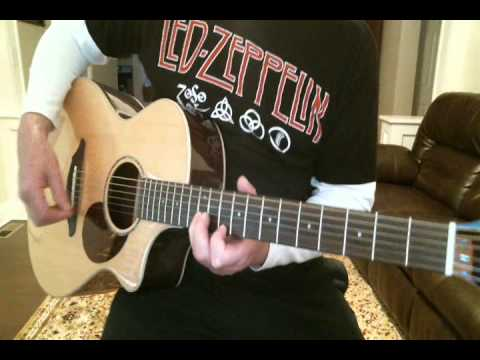 How To Play Ramble on by Led Zeppelin Acoustic guitar Lessons - YouTube