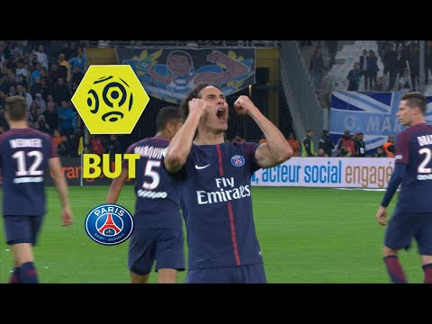 But Edinson CAVANI (90' +3) / Olympique de Marseille - Paris Saint-Germain (2-2)  / 2017-18