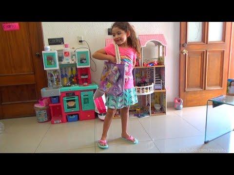 YESLY MODELANDO: Camisa y Falda de Unicornio Aqua Shoes de Elsa y Ana Y Bolsa de Rapunsel