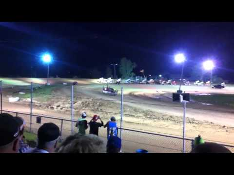 World of Outlaws Feature Start @ I-96 Speedway