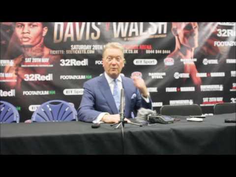 FRANK WARREN; Discusses Liam Walsh v Gervonta Davis at post fight presser.