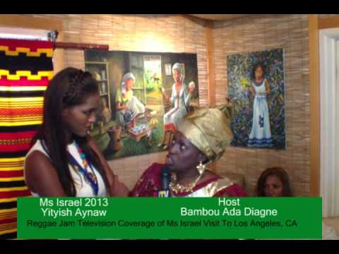 First Black Miss Israel Bambou Ada Diagne TV Interviews.