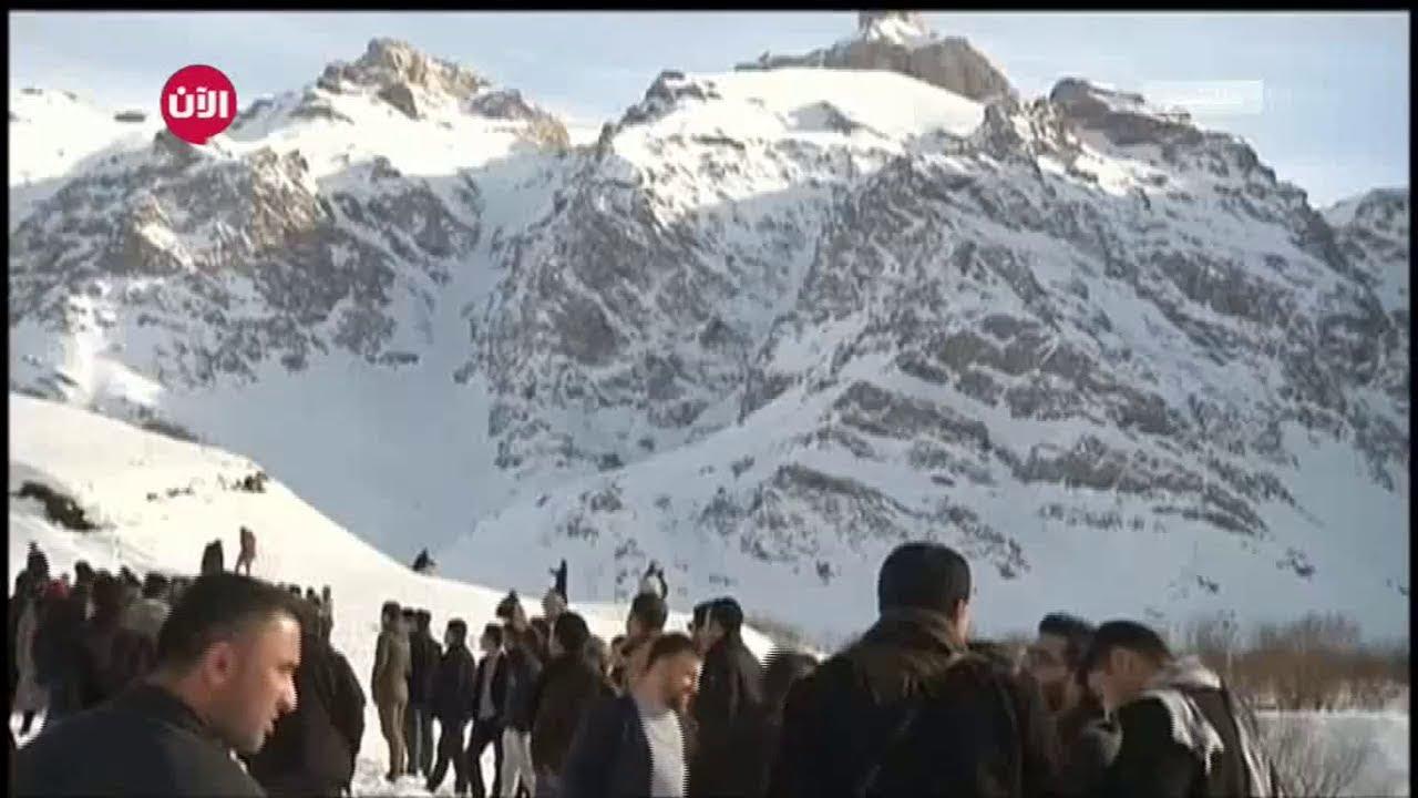8eb78af74 الثلوج تجذب أكراد العراق للجبال في مهرجان للتزلج - YouTube