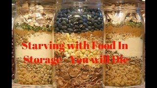 Homestead vs. Prepper-Starving with Storage Full of Food