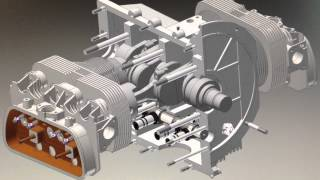 3d Cad Animation Vw Boxer Motor