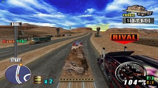 PS2 The King of Route 66 Gameplay