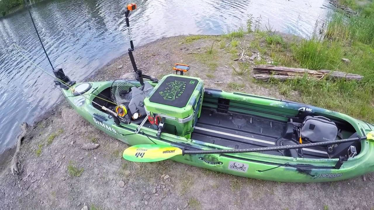 Tidbits bass birdin 39 how i setup my fly fishing kayak for Fishing canoe setup