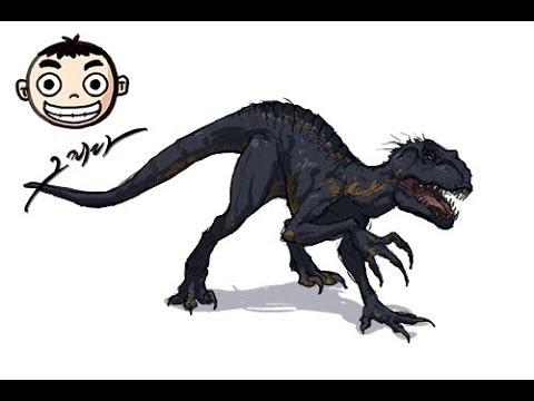 [그리다] 인도랩터 그림 그리기 [Grida] Indoraptor drawing