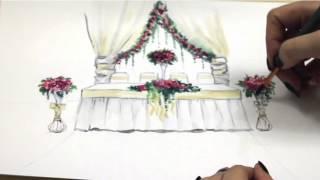 Эскиз свадебного декора