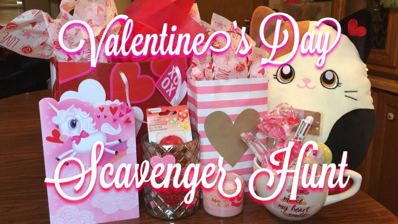 Valentine's Day Scavenger Hunt   Teen Gift Ideas