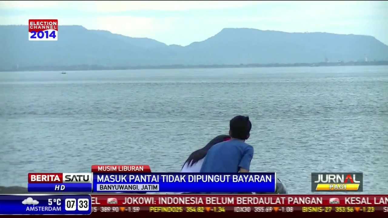 Pantai Boom Obyek Wisata Banyuwangi Berlatar Pulau Bali Youtube